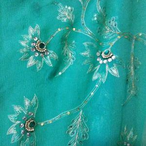 Blue scarf / sari